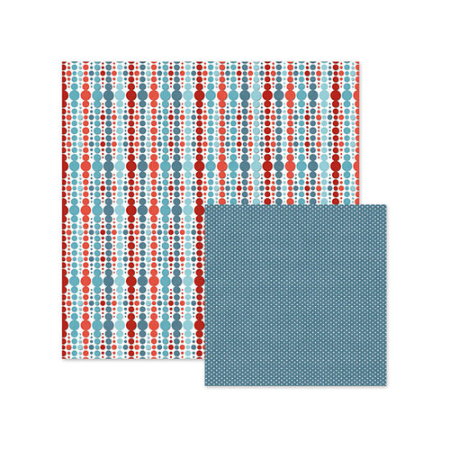 We R Memory Keepers - Red White and Blue Collection - 12 x 12 Double Sided Paper - Celebration