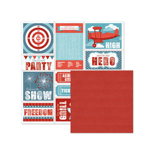 We R Memory Keepers - Red White and Blue Collection - 12 x 12 Double Sided Paper - Summertime Fun