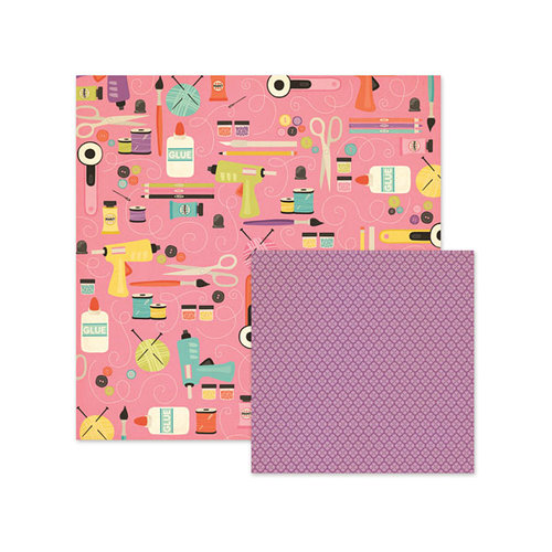 We R Memory Keepers - Love 2 Craft Collection - 12 x 12 Double Sided Paper - Supplies