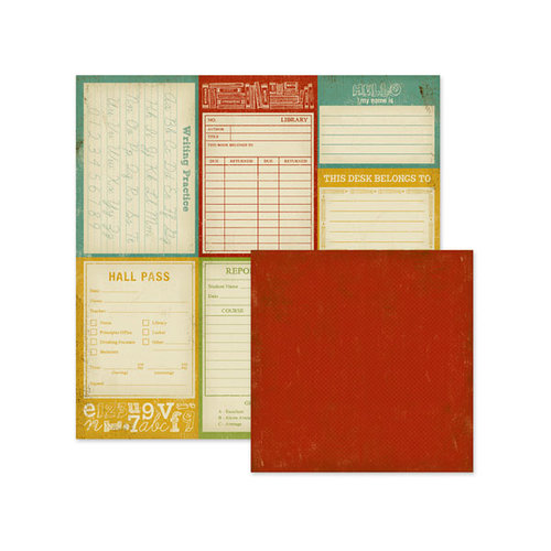 We R Memory Keepers - Hall Pass Collection - 12 x 12 Double Sided Paper - Classroom