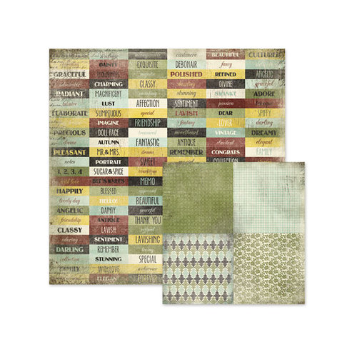 We R Memory Keepers - Antique Chic Collection - 12 x 12 Double Sided Paper - Beverly