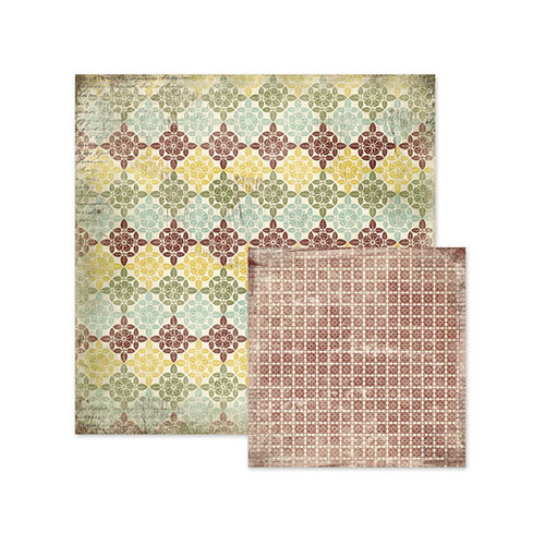 We R Memory Keepers - Antique Chic Collection - 12 x 12 Double Sided Paper - Rosemary