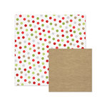 We R Memory Keepers - Yuletide Collection - Christmas - 12 x 12 Double Sided Paper - Dots