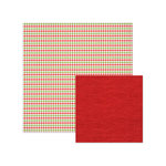 We R Memory Keepers - Yuletide Collection - Christmas - 12 x 12 Double Sided Paper - Houndstooth