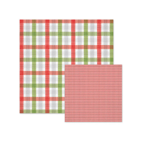 We R Memory Keepers - Yuletide Collection - Christmas - 12 x 12 Double Sided Paper - Plaid