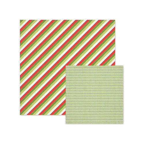 We R Memory Keepers - Yuletide Collection - Christmas - 12 x 12 Double Sided Paper - Stripes
