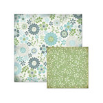We R Memory Keepers - Winter Frost Collection - 12 x 12 Double Sided Paper - Winter Flowers