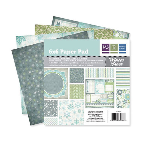 We R Memory Keepers - Winter Frost Collection - 6 x 6 Paper Pad