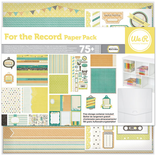 We R Memory Keepers - For the Record Collection - 12 x 12 Paper Pack