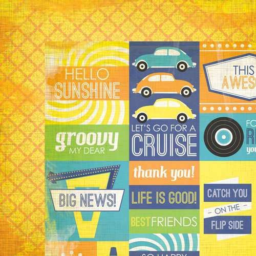 We R Memory Keepers - Feelin' Groovy Collection - 12 x 12 Double Sided Paper - Retro