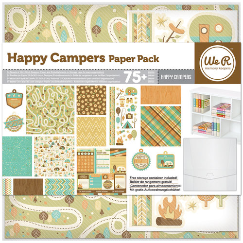 We R Memory Keepers - Happy Campers Collection - 12 x 12 Paper Pack