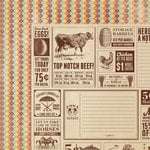 We R Memory Keepers - Country Livin' Collection - 12 x 12 Double Sided Paper - Town Paper