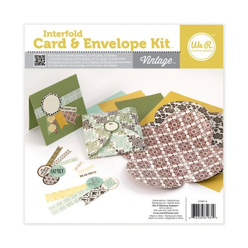 We R Memory Keepers - Interfold Card and Envelope Kit - Vintage