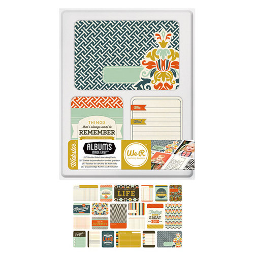 We R Memory Keepers - Albums Made Easy - Journaling Cards - Webster