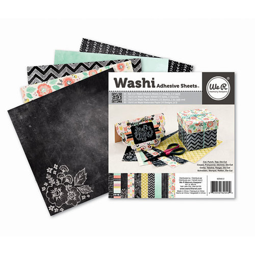 We R Memory Keepers - Chalkboard Collection - 6 x 6 Washi Adhesive Pad