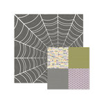 We R Memory Keepers - Bewitched Collection - 12 x 12 Double Sided Paper - Spider Web