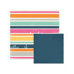 We R Memory Keepers - Inked Rose Collection - 12 x 12 Double Sided Paper - Striped