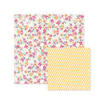 We R Memory Keepers - Inked Rose Collection - 12 x 12 Double Sided Paper - Floral