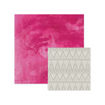 We R Memory Keepers - Inked Rose Collection - 12 x 12 Double Sided Paper - Pink Wash