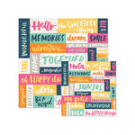 We R Memory Keepers - Inked Rose Collection - 12 x 12 Double Sided Paper - Words