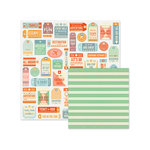 We R Memory Keepers - Jet Set Collection - 12 x 12 Double Sided Paper - Tourist