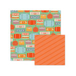 We R Memory Keepers - Jet Set Collection - 12 x 12 Double Sided Paper - Suitcase