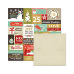 We R Memory Keepers - Silver and Gold Collection - Christmas - 12 x 12 Double Sided Paper - December 25th