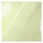 We R Memory Keepers - Clearly Bold Collection - 12 x 12 Acetate Paper - Neon Green Dot