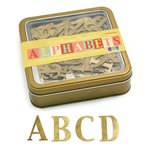 We R Memory Keepers - Precious Metals Collection - Metal Alphabet Set - Vintage Brass - Grand