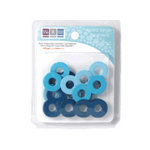 We R Memory Keepers - Extra Large Assorted Gromlets - Blues, CLEARANCE