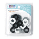 We R Memory Keepers - Extra Large Assorted Gromlets - Blacks, CLEARANCE