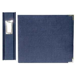 We R Memory Keepers Linen 12 x 12 Postbound Albums - Wedgewood