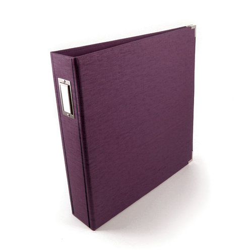 We R Memory Keepers - Linen 12x12 Postbound Albums  - Eggplant