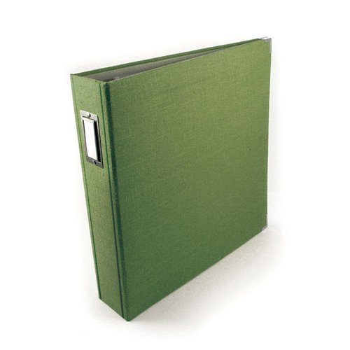 We R Memory Keepers Linen 12 x 12 Postbound Albums - Avocado
