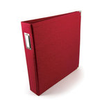 We R Memory Keepers Linen 12 x 12 Postbound Albums - Pomegranate