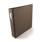 We R Memory Keepers - Linen 12x12 Postbound Albums  - Hazelnut