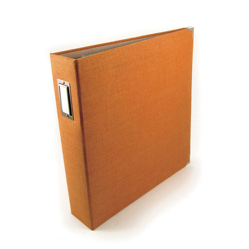 We R Memory Keepers - Linen - 12x12 - Three Ring Albums - Orange Zest