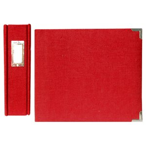 We R Memory Keepers Linen 8 X 8 Postbound Albums - Pomegranate