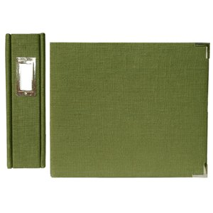 We R Memory Keepers Linen 8 X 8 Postbound Albums - Avocado