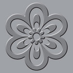 We R Memory Keepers - Crop-A-Dile III Main Squeeze - Embossing Plates - Flower