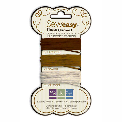 We R Memory Keepers - Sew Easy - Floss - Brown