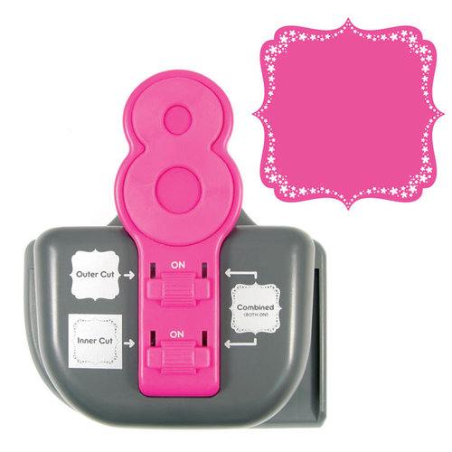 We R Memory Keepers - Lucky 8 Punch - Border and Corner Punch - Floral Burst