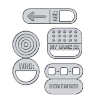 We R Memory Keepers - Crop-A-Dile III Main Squeeze - Tabs - Labels