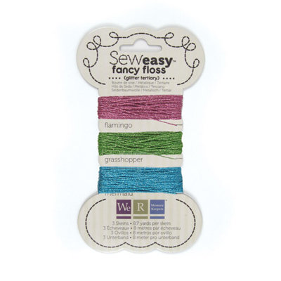We R Memory Keepers - Sew Easy - Fancy Floss - Glitter - Tertiary