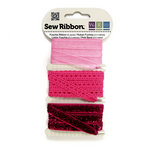 We R Memory Keepers - Sew Ribbon - Ribbon Set - Fuschia