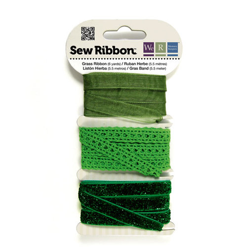 We R Memory Keepers - Sew Ribbon - Ribbon Set - Grass