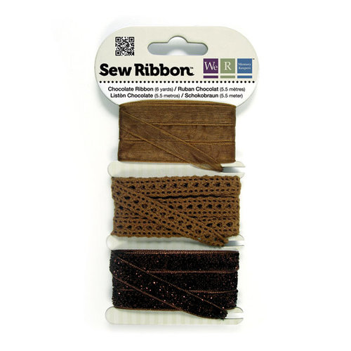 We R Memory Keepers - Sew Ribbon - Ribbon Set - Chocolate