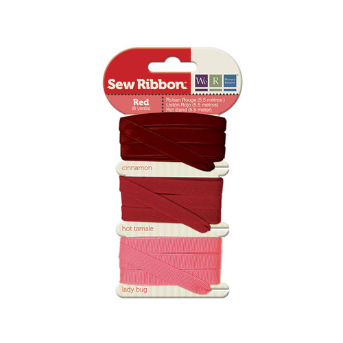 We R Memory Keepers - Sew Ribbon - Ribbon Set - Red