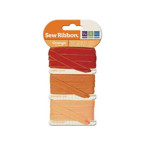 We R Memory Keepers - Sew Ribbon - Ribbon Set - Orange