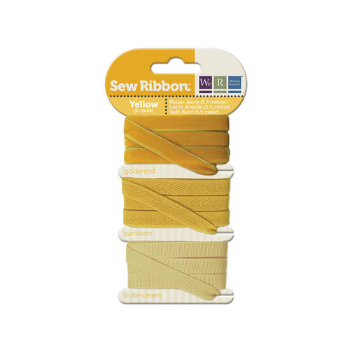 We R Memory Keepers - Sew Ribbon - Ribbon Set - Yellow